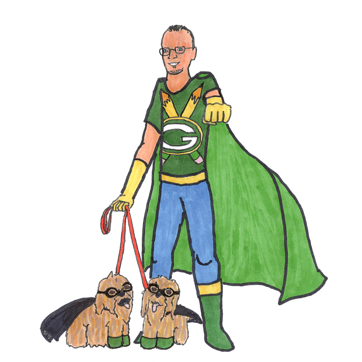 Steve Marmel and Lovey and Lambeau: Everyday Superheroes