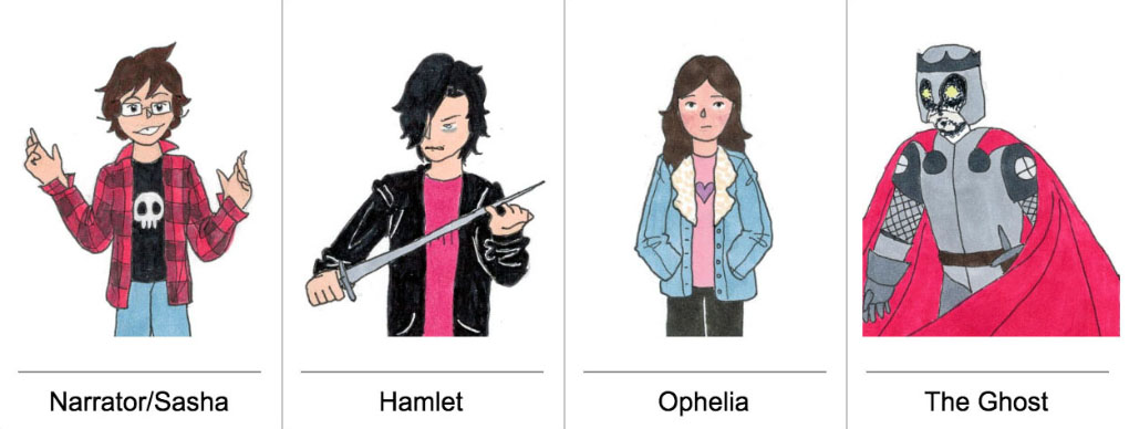 Characters from Shakespeare's Hamlet by Sasha Matthews